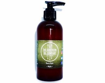 Beard Wash - Mojito 200ml Natural Beard Wash, Handcrafted Face Wash, Natural Beard Care