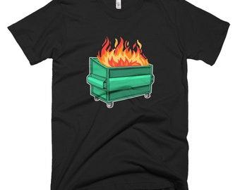 Dumpster Fire Funny Short-Sleeve T-Shirt