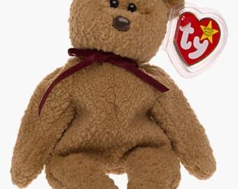 78f6d6e6d66 Ty Beanie Baby CURLY The Bear Retried Rare 1996 Many Errors