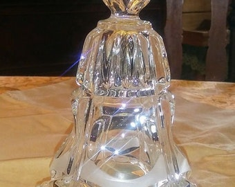Crystal Glass Hearts Large Wedding Bell