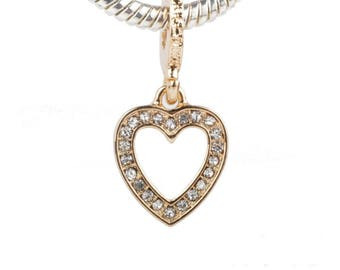 Crystal Heart Charm For Necklace