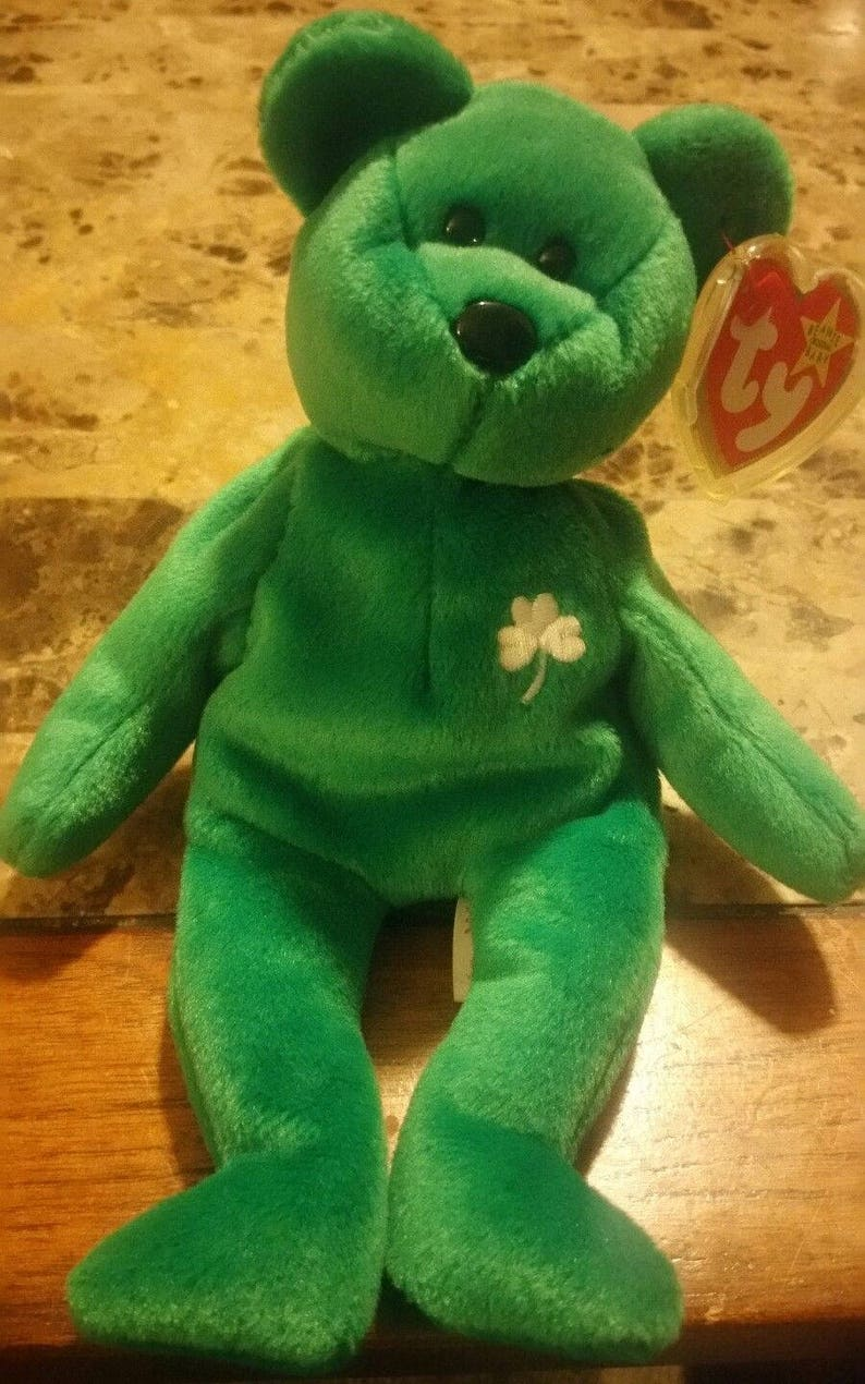 7d9ba87416d Ty Beanie Baby ERIN. Extremely Rare Old Face