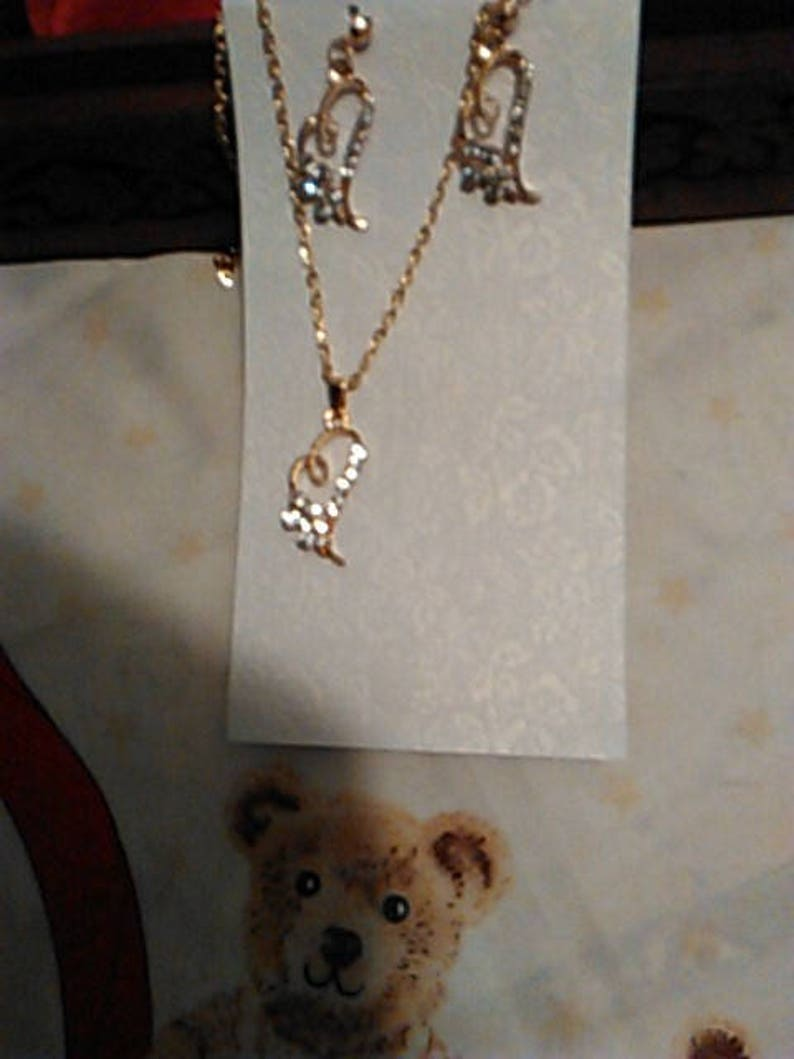 Heart Crystal Necklace And Earrings