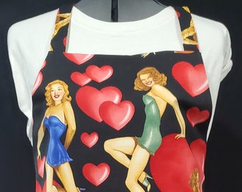 Valentines: Girls (2021 - With LINING!) Gayprons By Lynn - Fashionable Aprons for Everyday