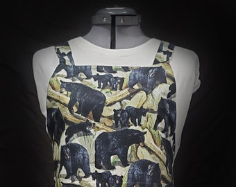 Bear Family On The Rocks with LINING! Gayprons By Lynn - Fashionable Aprons for Everyday
