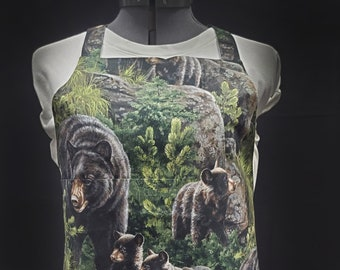Bear In The Woods (with Lining) Gayprons By Lynn - Fashionable Aprons for Everyday