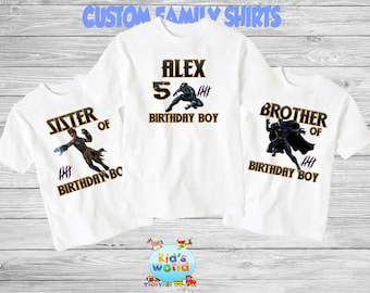 Black Panther Birthday Shirt Party Family Shirts D73