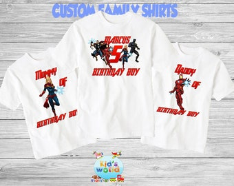 b71f3266 Marvel superhero shirt superhero birthday shirt Superhero shirt Boys superhero  birthday shirt Marvel birthday shirt custom family shirts 70