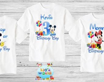 Mickey Mouse Birthday ShirtCustom Shirt Personalized Family Shirtbirthday Shirtkids Custom D20