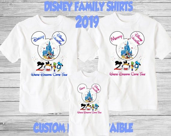 Personlised Disney Tshirts Matching Family Tshirts