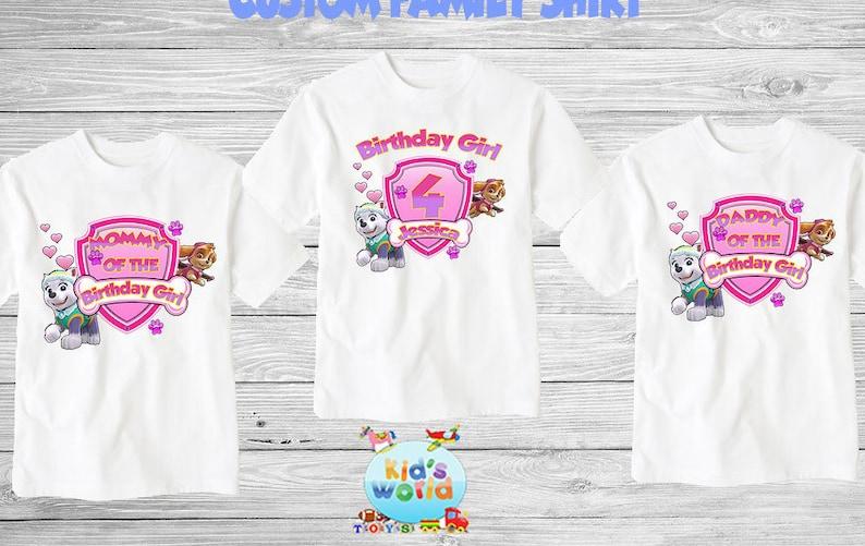 Paw Patrol Family Birthday Shirt Custom Personalized