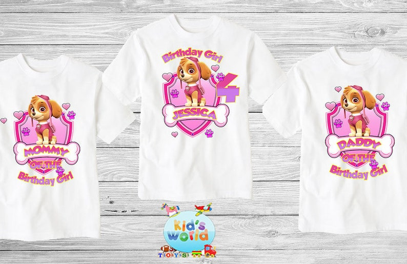 Paw Patrol Family Birthday Shirt Custom Personalized