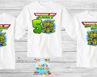 Teenage Mutant Ninja Turtles Birthday Shirt, TMNT Custom Shirt, Personalized NINJA TURTLES Shirt, tmnt family shirts, Birthday t-shirt d32