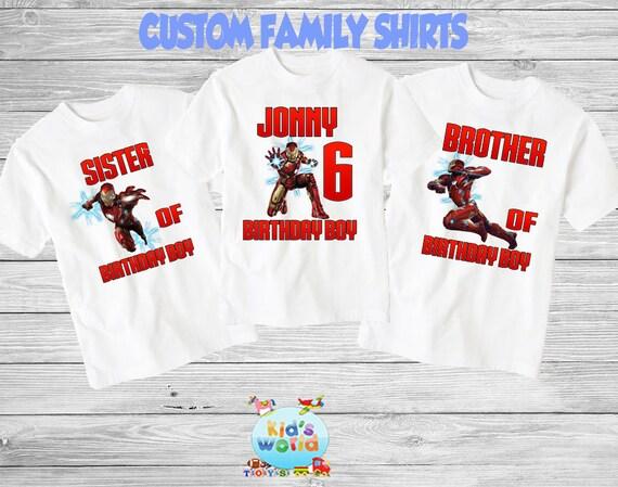 d8142eeed62 Iron Man Birthday Shirt Iron Man Birthday Party Iron Man   Etsy