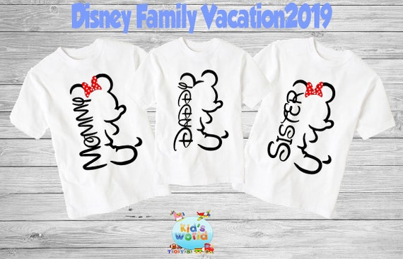 37e90f382 Family disney world shirts 2019 Disney Family Shirts | Etsy