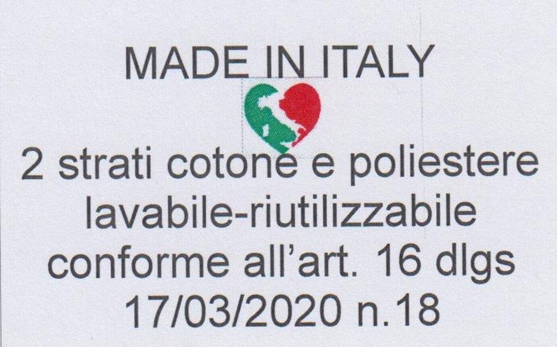 Mascherine personalizzate in cotone e poliesterelavabile e image 4