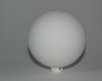 White terracotta ball to decorate cm 12