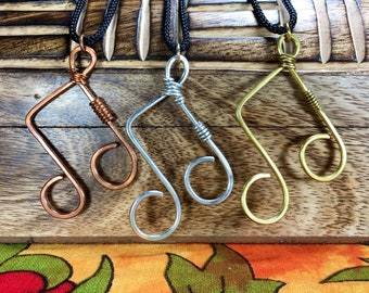 Wire Music Note Pendant //music note necklace/double music note/wire shape necklace/band jewelry/music pendant/festival jewelry/wire pendant