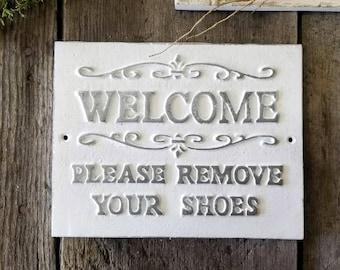 d5d65ab64b797d Please Remove Your Shoes Sign