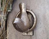 Cast Iron Door Knocker, Bird Decor, Personalized, Farmhouse Door Knocker, Antique Door Knocker, Rustic Style