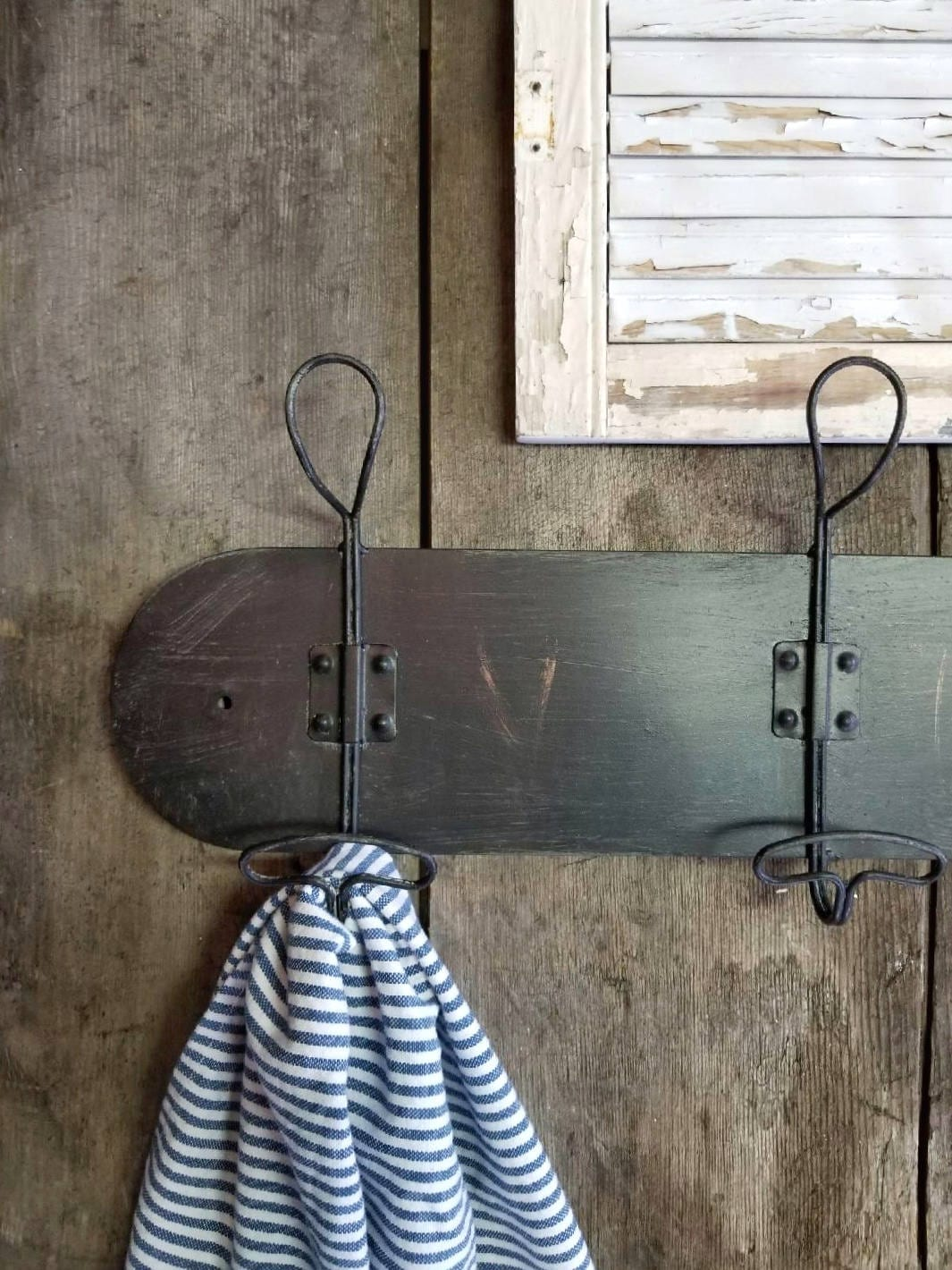 porte manteau style vintage coat rack mural porte. Black Bedroom Furniture Sets. Home Design Ideas