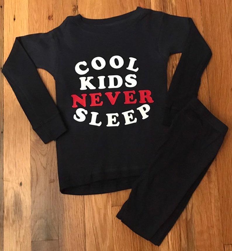 5ea778389ea50 boys sleepwear, baby boy pajamas, toddler boy pajamas, cool kids never  sleep, nap fighter, custom kids pajamas, holiday pjs, pajama set