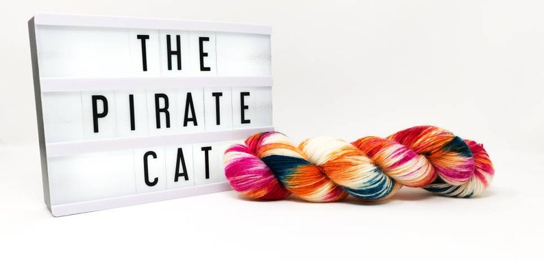 The Pirate Cat Hand Dyed Sock Yarn