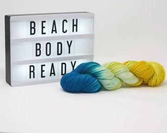 Beach Body Ready - Hand Dyed Merino/Silk Yarn