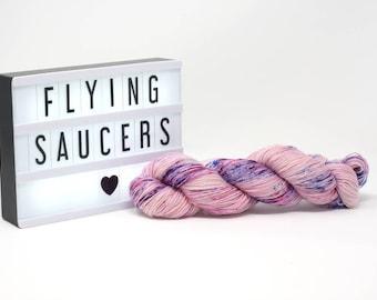 Flying Saucers - Hand Dyed Merino/Silk Yarn