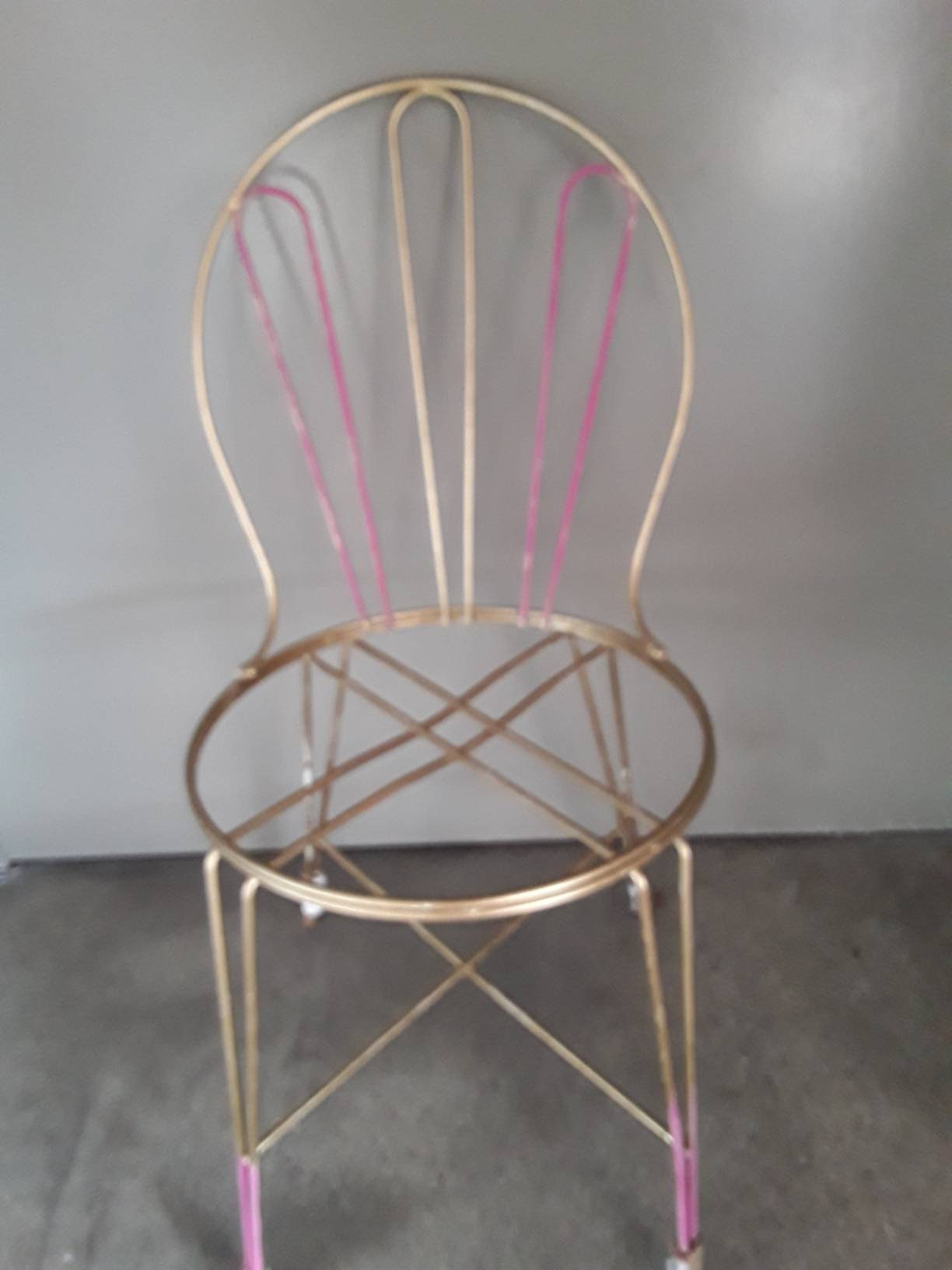 Ice Cream Shop Painted Rod Iron Chair