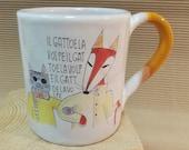 Mug Fox and Cat (Pinocchi...
