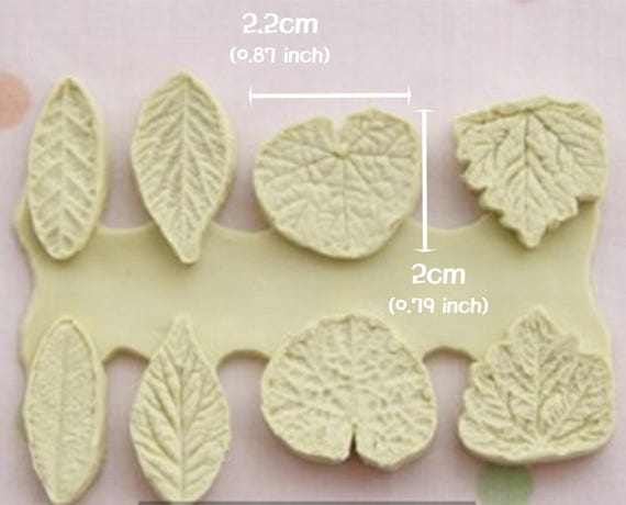 Wake Robin Silicone Leaf Mold Mould Sugarcraft Candle Soap Chocolate Polymer Clay Melting Wax Resin Tools Ornament Handmade