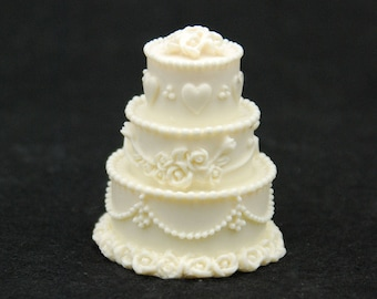 3D Wedding Cake, Silicone Mold Mould Sugarcraft Candle Soap Chocolate Polymer Clay Melting Wax Resin Tools Ornament Handmade