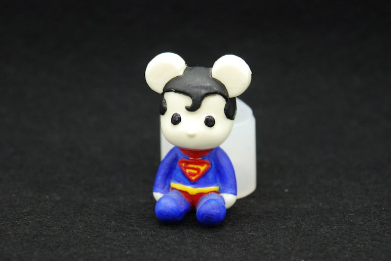 Silicone Mold Mould Sugarcraft Candle Soap Chocolate Polymer Clay Melting Wax Resin Tools Ornament Handmade 2D Bear Superman