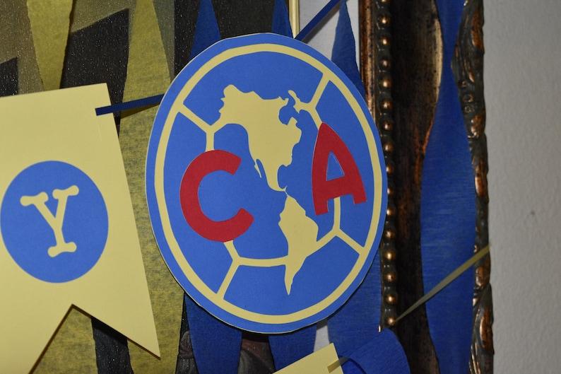 57dcfc03dff Club America Birthday Banner/ Soccer Decorations/ Soccer Club | Etsy
