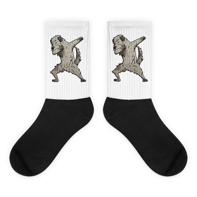 Irish Wolfhound Dabbing Socks Funny Dog Dab Gift