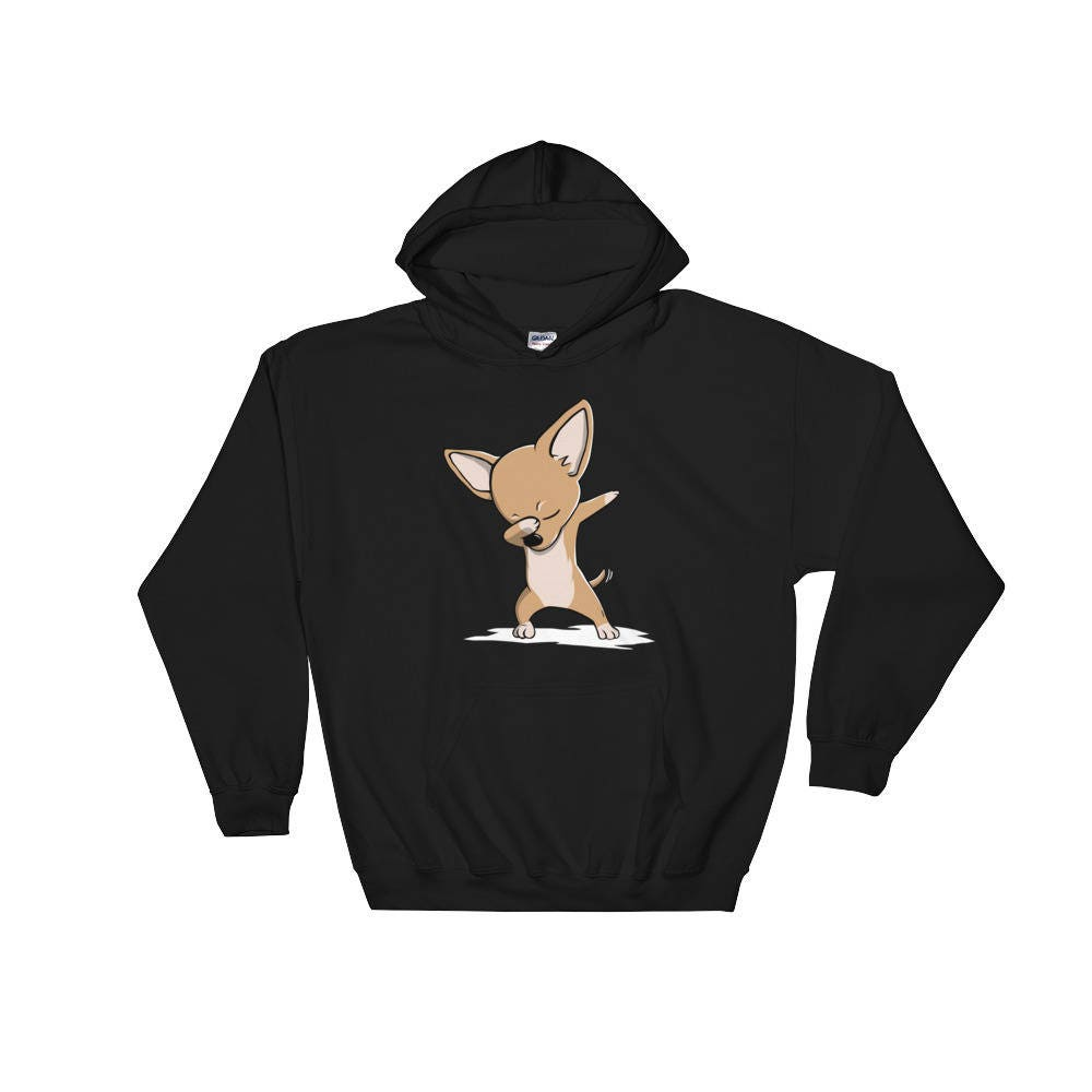 Mignon avec Chihuahua chien drôle Hoodie Hoodie Hoodie Dab danse cadeau 9d2ea4