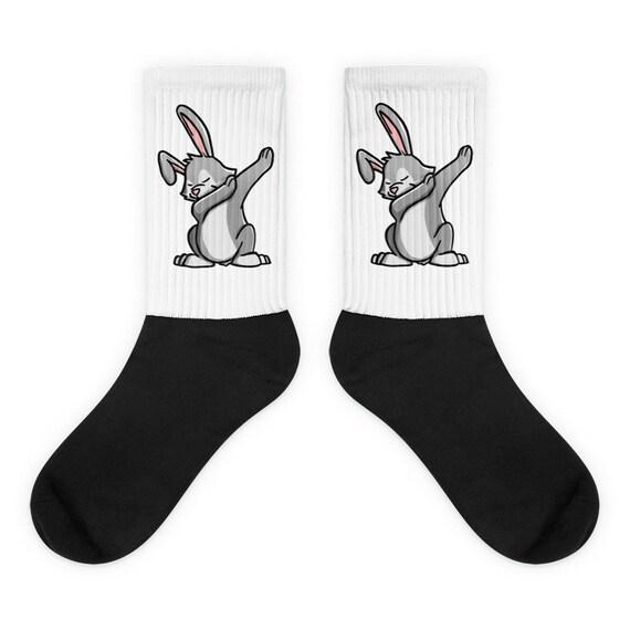 Rabbit Dabbing Socks Funny Pet Dab Gift