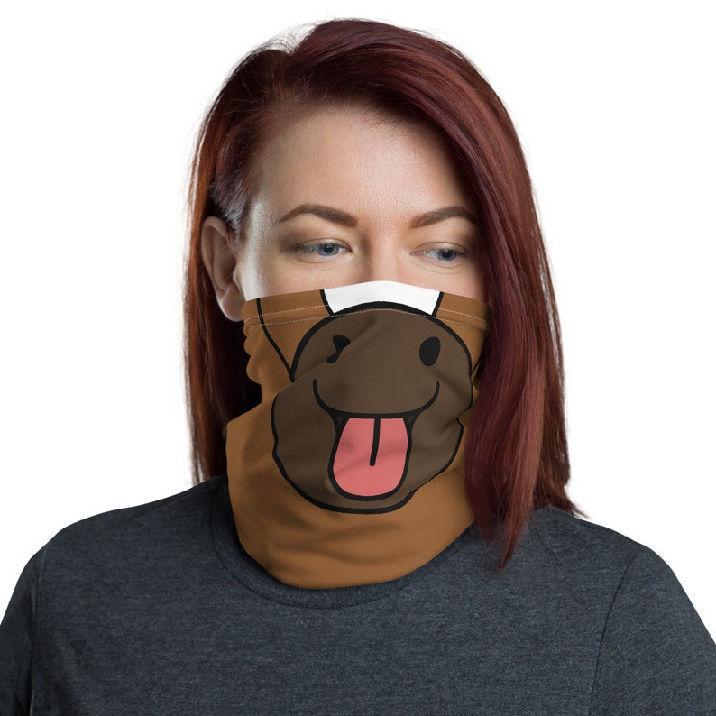 Horse Neck Gaiter Horse Face Mask Pet Lover Gift image 0