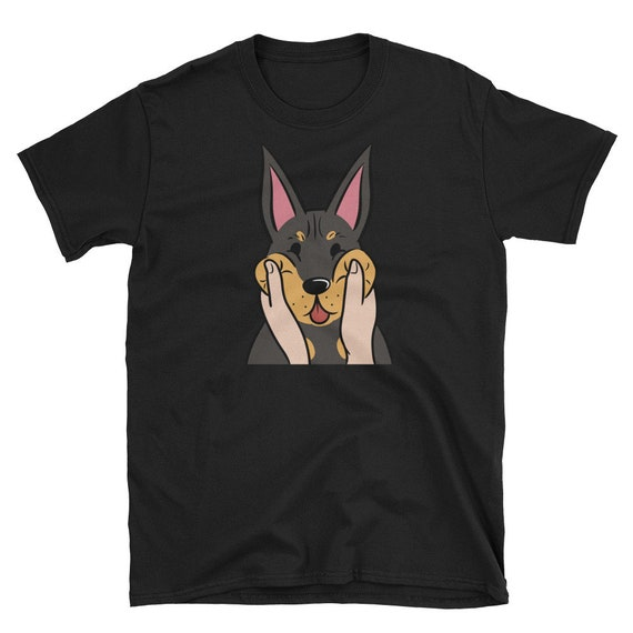T-shirt Funny Animal Dog Dogs Doberman Dad Mom Tee Shirt Pet Got Doberman