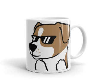 Sunglasses Jack Russell Terrier Mug, Funny Jack Russell Terrier Gifts, Cute Jack Russell Terrier Dog Coffee Cup