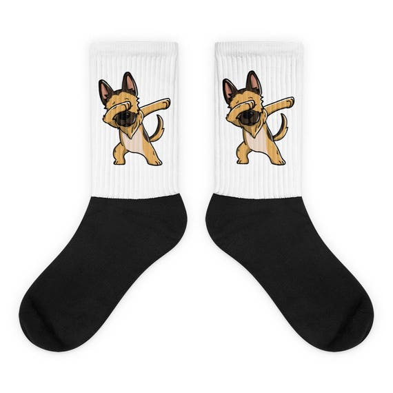 GIFT BAG GERMAN SHEPHERD ALSATIAN GSD DADDY PRINTED SOCKS BIRTHDAY PRESENT