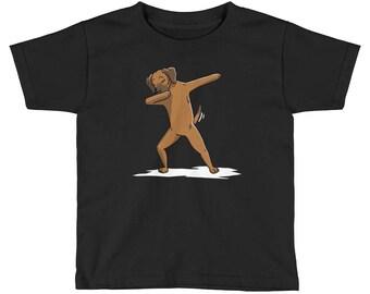 Funny Dabbing Rhodesian Ridgeback Kids Short Sleeve T-Shirt
