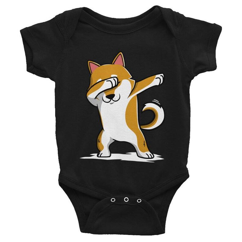 Dog Baby Clothes Dabbing Shiba Inu Baby Bodysuit