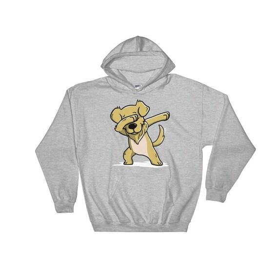 Mignon avec Golden Golden avec Retriever chien drôle Hoodie Dab danse cadeau da4b38