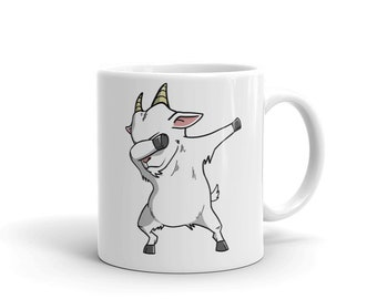 Goat Dabbing Ceramic Coffee Mug, Funny Farm Pet Dab Gift