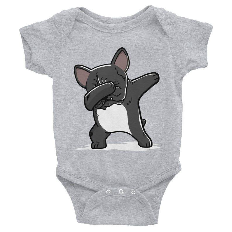 Baby Girl Bodysuit Dabbing French Bulldog Baby Bodysuit Baby Boy Funny Frenchie Dog Lover Baby Clothes Baby Shower Gift