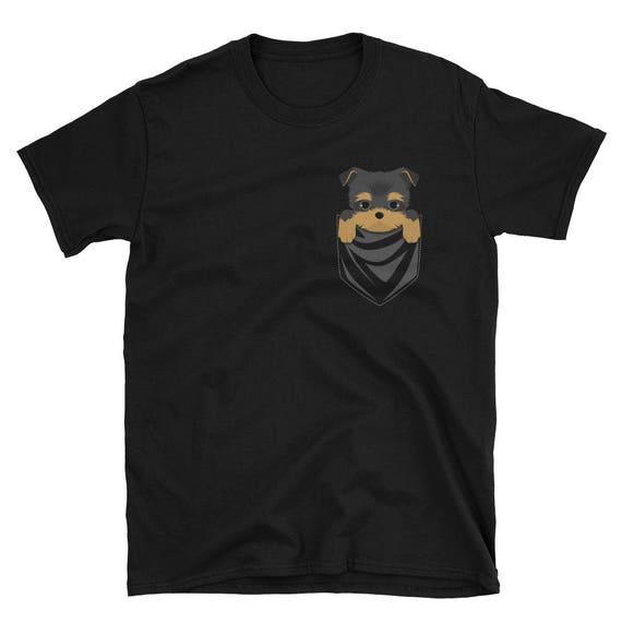 Funny Yorkshire Terrier Pocket T Shirt Cute Dog Gift Etsy