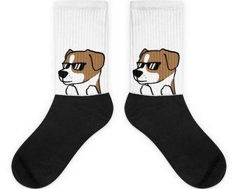 Sunglasses Jack Russell Terrier Socks, Cute Jack Russell Terrier Gift, Funny Jack Russell Terrier Dog Socks