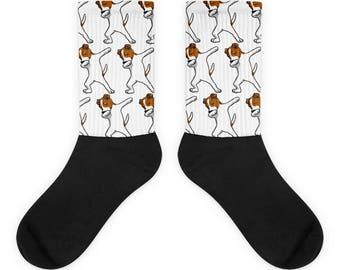 Funny Dabbing Jack Russell Terrier Socks, Cute Jack Russell Terrier Gift, Dog Dab Dance Print